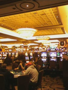 Casino floor at the Horseshoe, just outside the poker room.