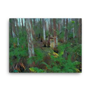 Swamp Plants 18×24 Canvas Print